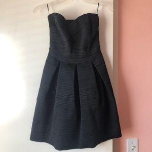Express - Black Elastic Mini Flare Dress (Size XS)